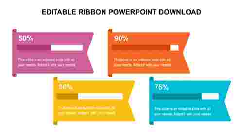 EDITABLE RIBBON POWERPOINT DOWNLOAD