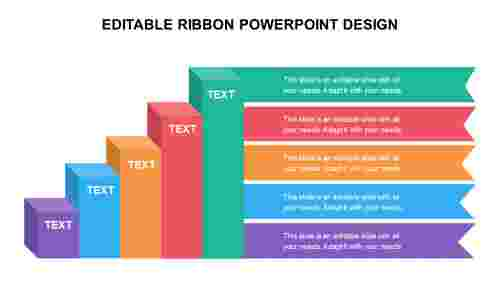 EDITABLE RIBBON POWERPOINT DESIGN