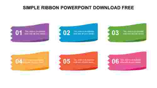 SIMPLE RIBBON POWERPOINT DOWNLOAD FREE