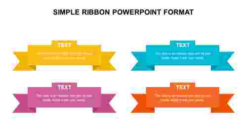 SIMPLE RIBBON POWERPOINT FORMAT