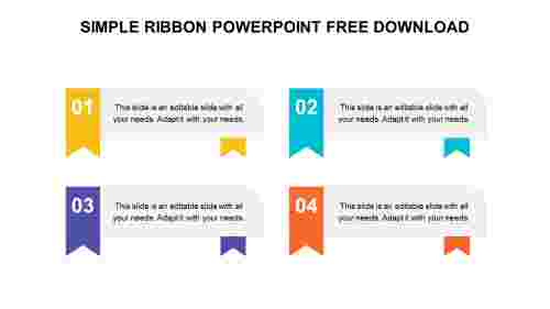 SIMPLE RIBBON POWERPOINT FREE DOWNLOAD