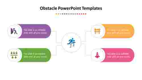 Simple%20Obstacle%20PowerPoint%20Templates%20with%204%20node