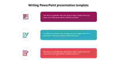 Simple%20Writing%20PowerPoint%20presentation%20template%20diagram