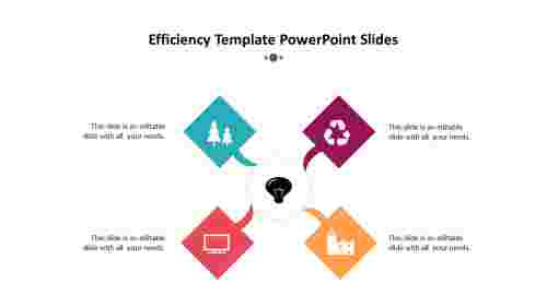 4%20noded%20Efficiency%20Template%20PowerPoint%20Slides%20