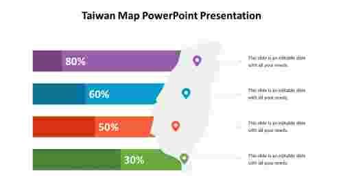 A%204%20node%20Taiwan%20Map%20PowerPoint%20Presentation