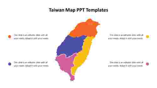 Taiwan%20Map%20PPT%20Templates%20with%204%20node