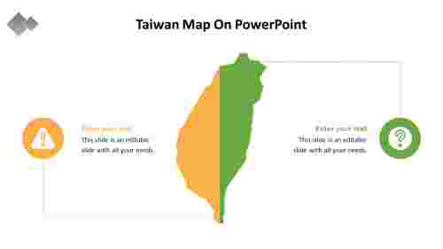 A%202%20node%20Taiwan%20Map%20On%20PowerPoint%20template