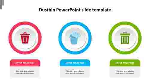Simple%20Dustbin%20PowerPoint%20slide%20template%20diagram