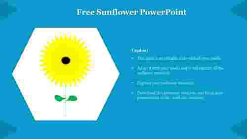 Free%20Sunflower%20PowerPoint%20template%20diagram