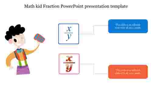 Math%20kid%20Fraction%20PowerPoint%20presentation%20template%20diagram