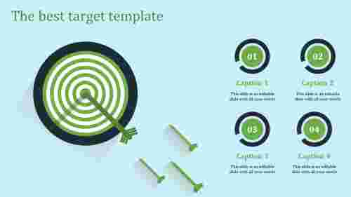 target template powerpoint-the best target template-green-4