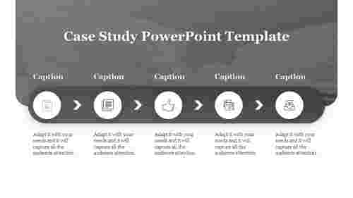 case study powerpoint template-5-gray