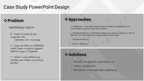A three noded Case Study PowerPoint Design