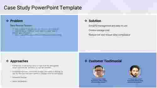 A four noded case study powerpoint template