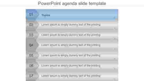 vertical powerpoint agenda template