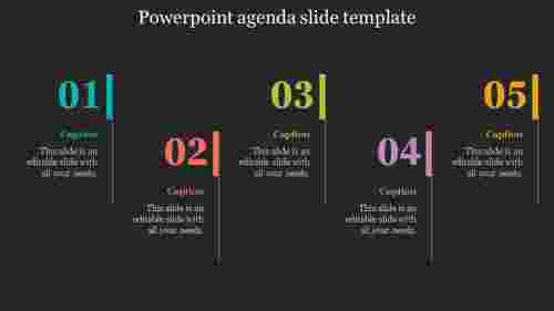 Highlighted Powerpoint Agenda Slide Template