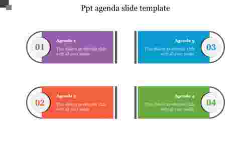 Creative PPT agenda slide template