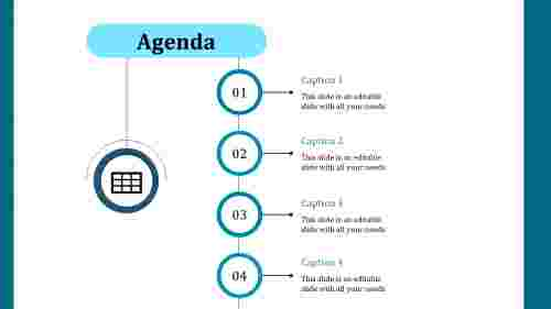Agenda PPT design-Four step model