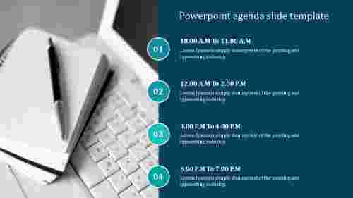 Creative powerpoint agenda slide template