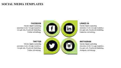 A social media powerpoint template