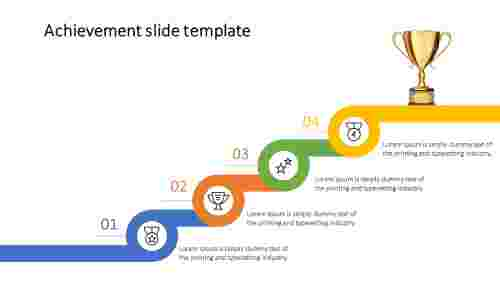 Best Achievement slide template
