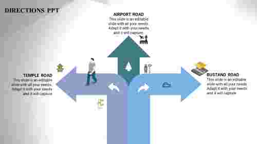 BusinessRoadMapTemplatesin3direction