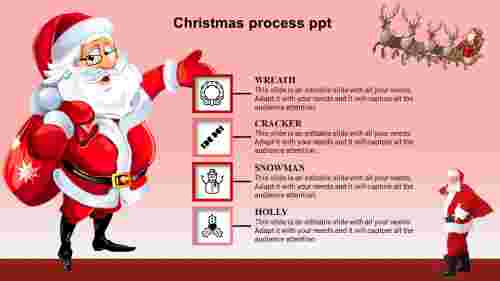christmas powerpoint template-christmas -process-4-red