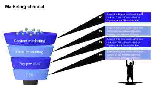 Sales funnel presentation infographics