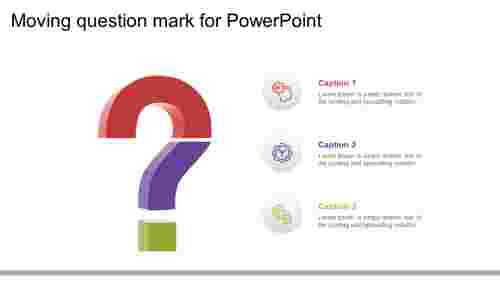 moving question mark for powerpoint