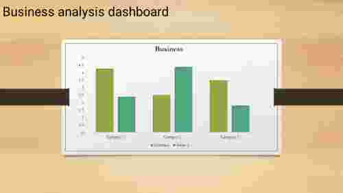 dashboard PPT template - clustered column