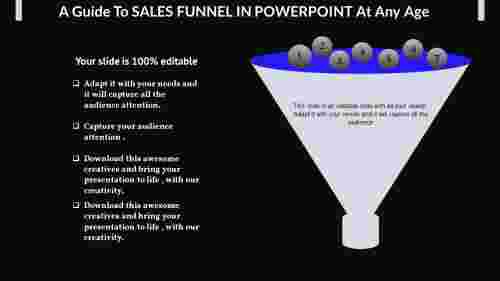 Sales funnel in powerpoint in filter model