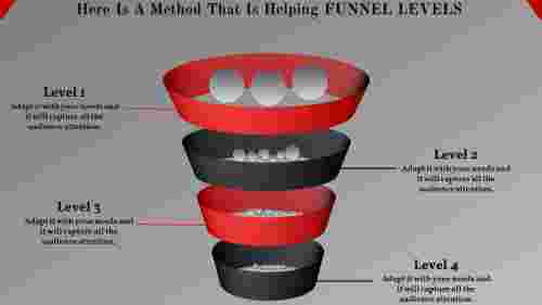 Graphic Funnel Powerpoint Slide