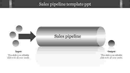 sales pipeline template ppt flat model