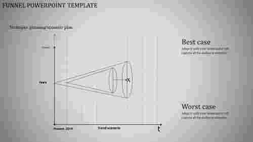 Cone model funnel powerpoint template