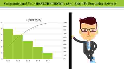 KPI dashboard powerpoint template - Health check
