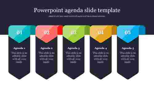 Powerpoint agenda slide template Design