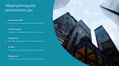 Company about powerpoint presentation ppt
