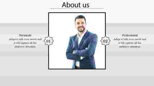 About Us PowerPoint Template-Employee Details