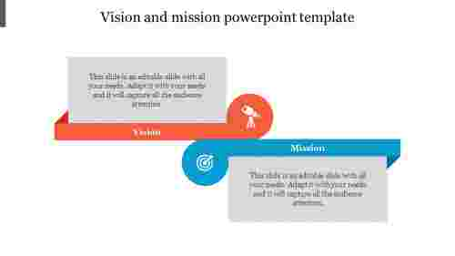Creative vision and mission powerpoint template