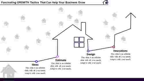 business growth PPT templates - House theme