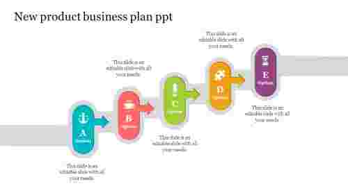 Creative new product business plan PPT