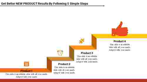 New product business plan ppt - Steps Model