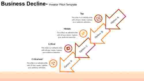 Downwards arrow Investor Pitch Template