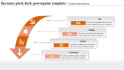 Investor Pitch Deck Powerpoint Templat - Curve Arrow