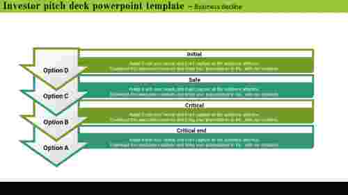 Investor Pitch Deck Powerpoint Templat - downward arrow