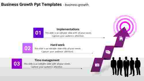 business growth PPT templates - Arrow Model