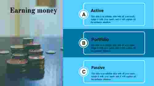 how to prepare ppt presentation-earning -money-3-blue