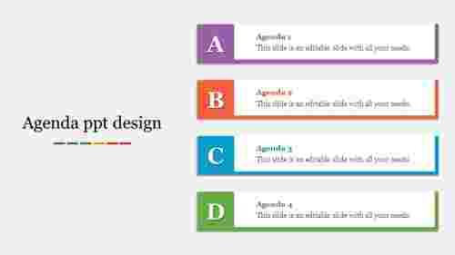 Editable agenda PPT design template