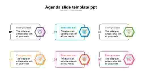 Simple Excellent agenda slide template powerpoint