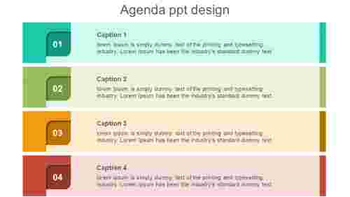agenda powerpoint template design with ideas
